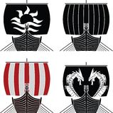 Viking ships royalty free illustration
