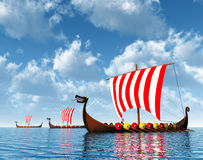Viking Ships Royalty Free Stock Photos