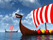 Viking Ships Stock Image