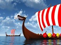 Viking Ships Stock Image