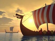 Viking ships Royalty Free Stock Photo