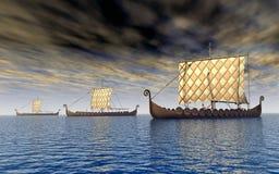 Viking ships Royalty Free Stock Photos