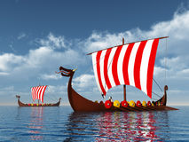 Viking Ships Royalty Free Stock Image