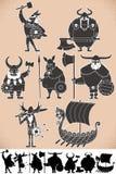 Viking Silhouettes illustrazione vettoriale