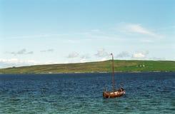 Viking skepp, Lerwick, Shetland Royaltyfri Foto