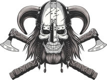 Viking Skull en casco
