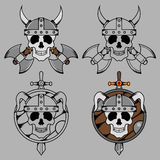 Viking Skull Mascot Royalty-vrije Stock Foto