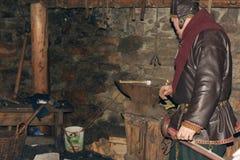 Viking in the smithy Royalty Free Stock Photos