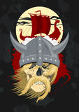 Viking-spook met schip. Royalty-vrije Stock Fotografie