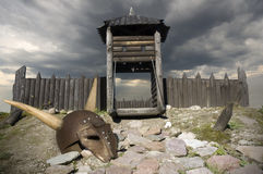 Viking stad Arkivfoto