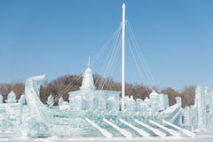 Viking statek robić lód Obrazy Royalty Free