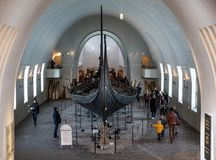 Viking statku muzeum obraz stock