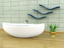 Viking-style bathtub Royalty Free Stock Photography