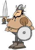 Viking with a sword and shield Royalty Free Stock Images