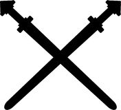 Viking Sword Silhouette Stock Images