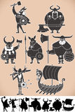 Viking sylwetki Fotografia Royalty Free