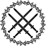 Viking symbol with swords Royalty Free Stock Image