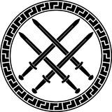 Viking symbol with swords. third variant Stock Photos