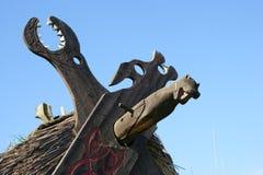 Viking symbols on house Stock Image