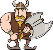 Viking tecknad filmillustration Royaltyfria Bilder