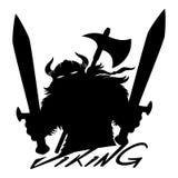 Viking-teken met zwaarden stock illustratie