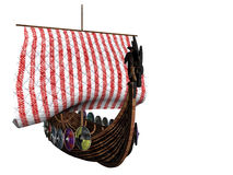 Viking Three. Isolated viking ship Stock Image