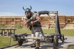 Viking trabaja difícilmente en su territorio Fotografía de archivo libre de regalías