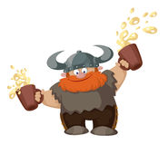 Viking with two beer Royalty Free Stock Image