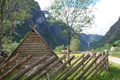 Viking Village Photographie stock