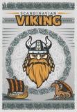 Viking Vintage Poster Photo stock