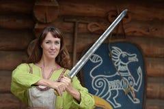 Viking-vrouw Royalty-vrije Stock Foto's