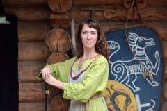 Viking-vrouw Royalty-vrije Stock Afbeeldingen