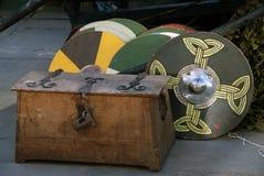 Viking war shields Royalty Free Stock Photo