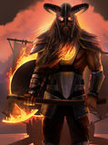 Viking Warrior Arkivfoto