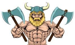 Viking Warrior With Axes Foto de archivo libre de regalías