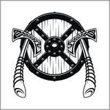 Viking Warrior Emblem Images stock