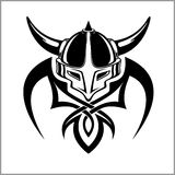 Viking Warrior Emblem Royalty Free Stock Image