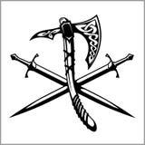 Viking Warrior Emblem Stock Photo