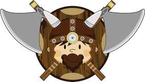 Viking Warrior féroce mignon Photo stock
