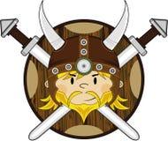 Viking Warrior feroce sveglio illustrazione di stock