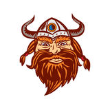 Viking Warrior Head Angry Retro illustration stock