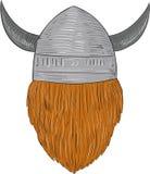 Viking Warrior Head Rear View Drawing Royalty Free Stock Photo