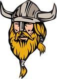 Viking Warrior Head Retro Stock Afbeeldingen