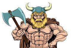 Viking Warrior Holding Axe Stock Photos