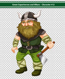 Viking Warrior Stock Photo