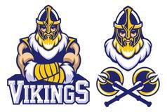 Viking warrior mascot crossed arm pose Royalty Free Stock Images