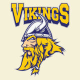 Viking warrior mascot Royalty Free Stock Image