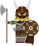 Viking Warrior masqué féroce mignon Image stock