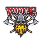 Viking warrior sport logo Stock Photo