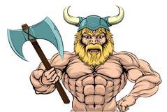 Viking Warrior Sports Mascot Fotografía de archivo